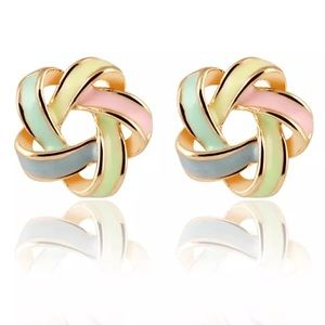Jewelry - NEW Multi Colored Knot Studs